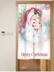 Christmas Santa Print Door Curtain -