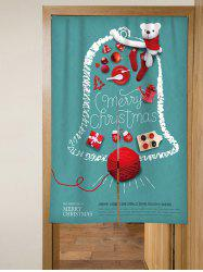 Merry Christmas Bear Design Door Curtain -