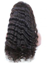 Free Part Deep Curly Human Hair Lace Front Wig -