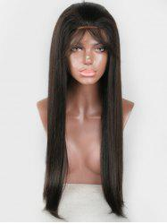 Human Hair Straight Free Part Lace Front Wig -