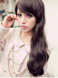 Long Side Bang Wavy Capless Party Synthetic Wig -