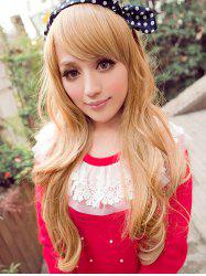 Inclined Bang Long Wavy Party Cosplay Synthetic Wig -