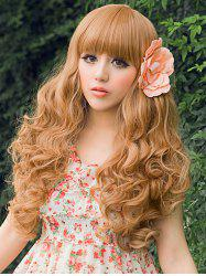 Full Bang Long Curly Party Cosplay Synthetic Wig -