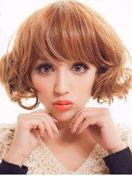 Short Full Bang Curly Party Synthetic Wig -