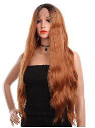 Center Parting Long Colormix Wavy Party Synthetic Lace Front Wig -
