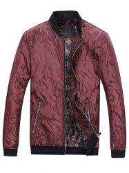 Solid Edge Ribbed Casual Bomber Jacket -
