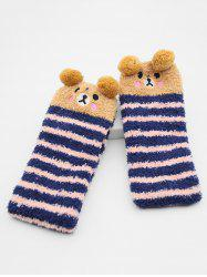 Cartoon Fox Panda Fuzzy Floor Socks -