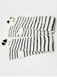 Cartoon Animal Color Block Fuzzy Socks -
