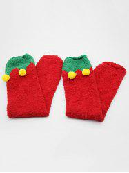 Christmas Fuzzy Ball Embellished Floor Socks -
