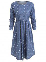Polka Dot High Waist Dress -