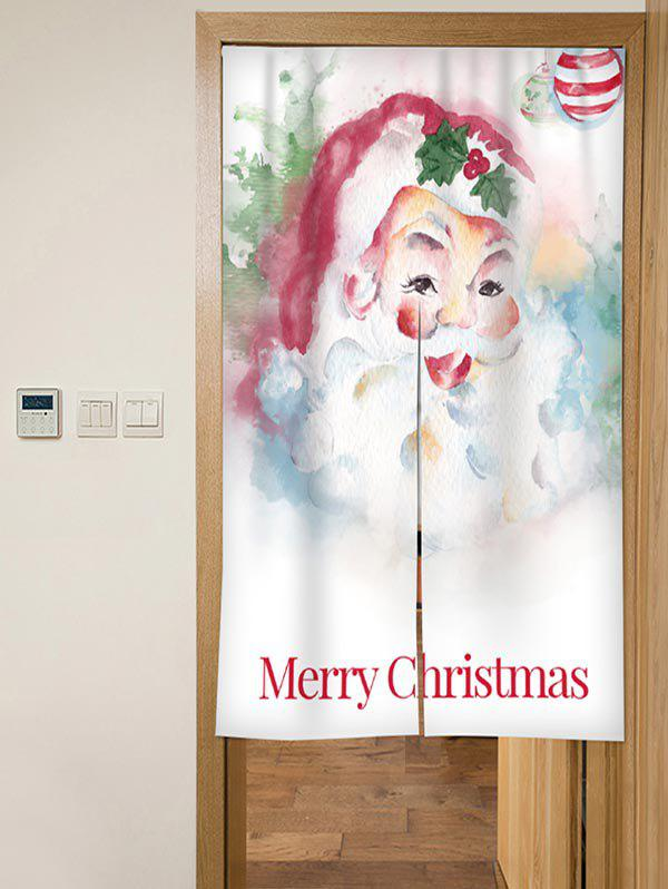 Fancy Christmas Santa Print Door Curtain