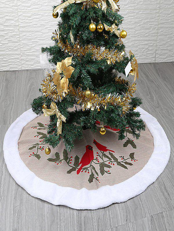 Outfits Birds Cherry Pattern Christmas Tree Skirt