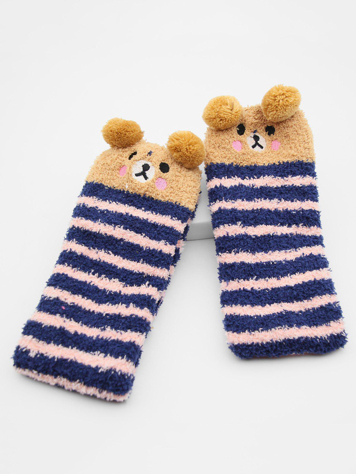 Fancy Cartoon Fox Panda Fuzzy Floor Socks