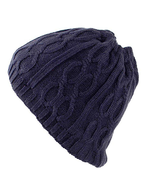 Trendy Multi-Use Drawstring Knit Hat Scarf