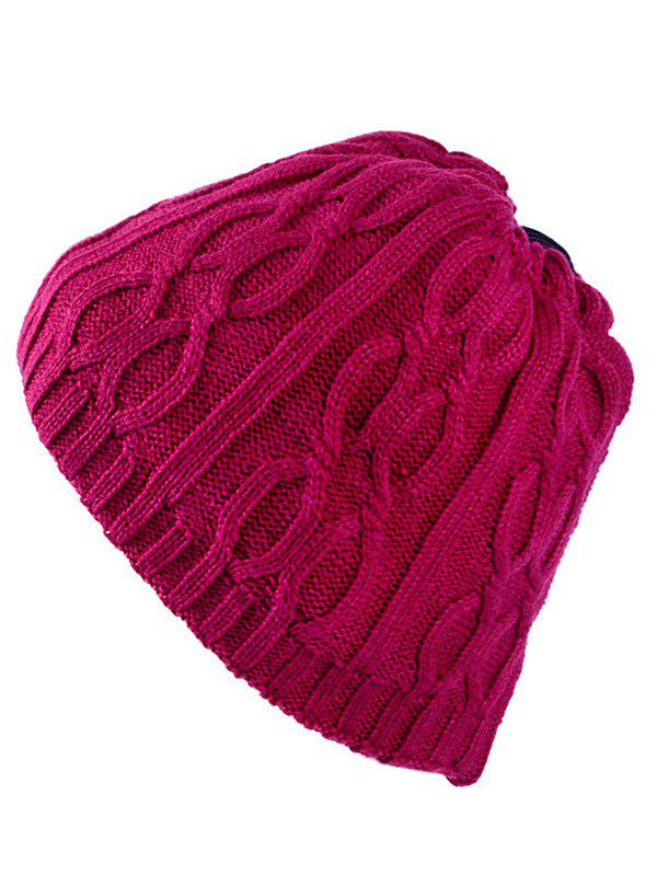 Cheap Multi-Use Drawstring Knit Hat Scarf