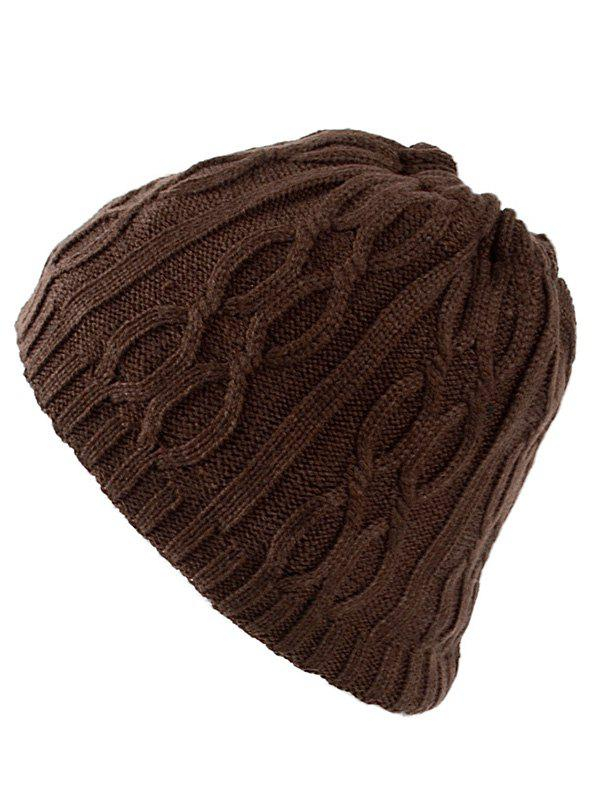 Latest Multi-Use Drawstring Knit Hat Scarf