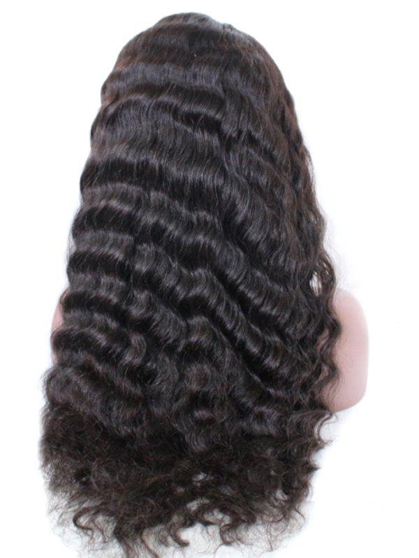 New Free Part Deep Curly Human Hair Lace Front Wig