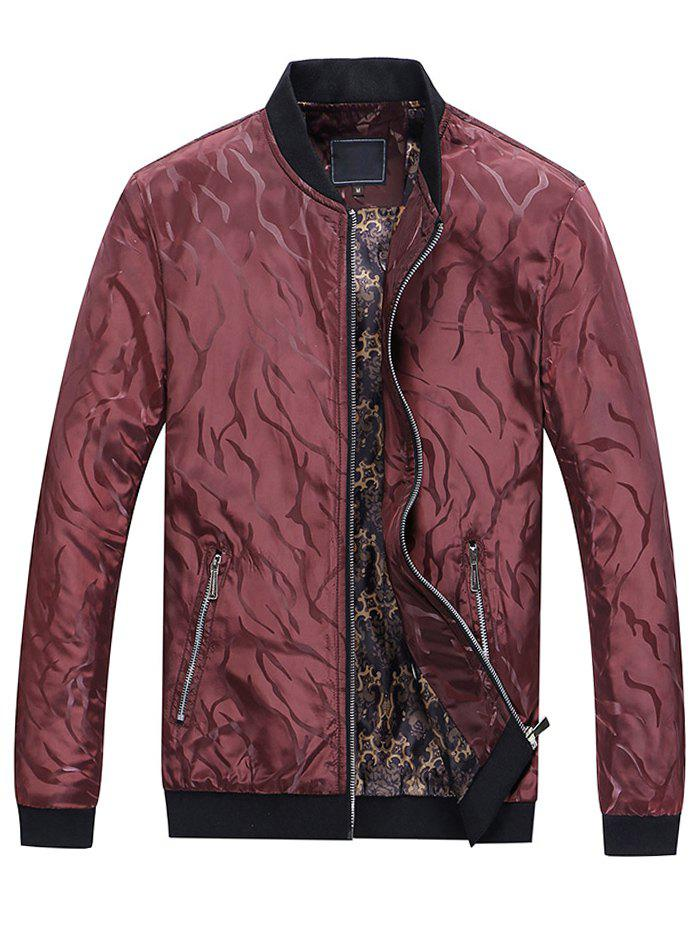 Shops Solid Edge Ribbed Casual Bomber Jacket