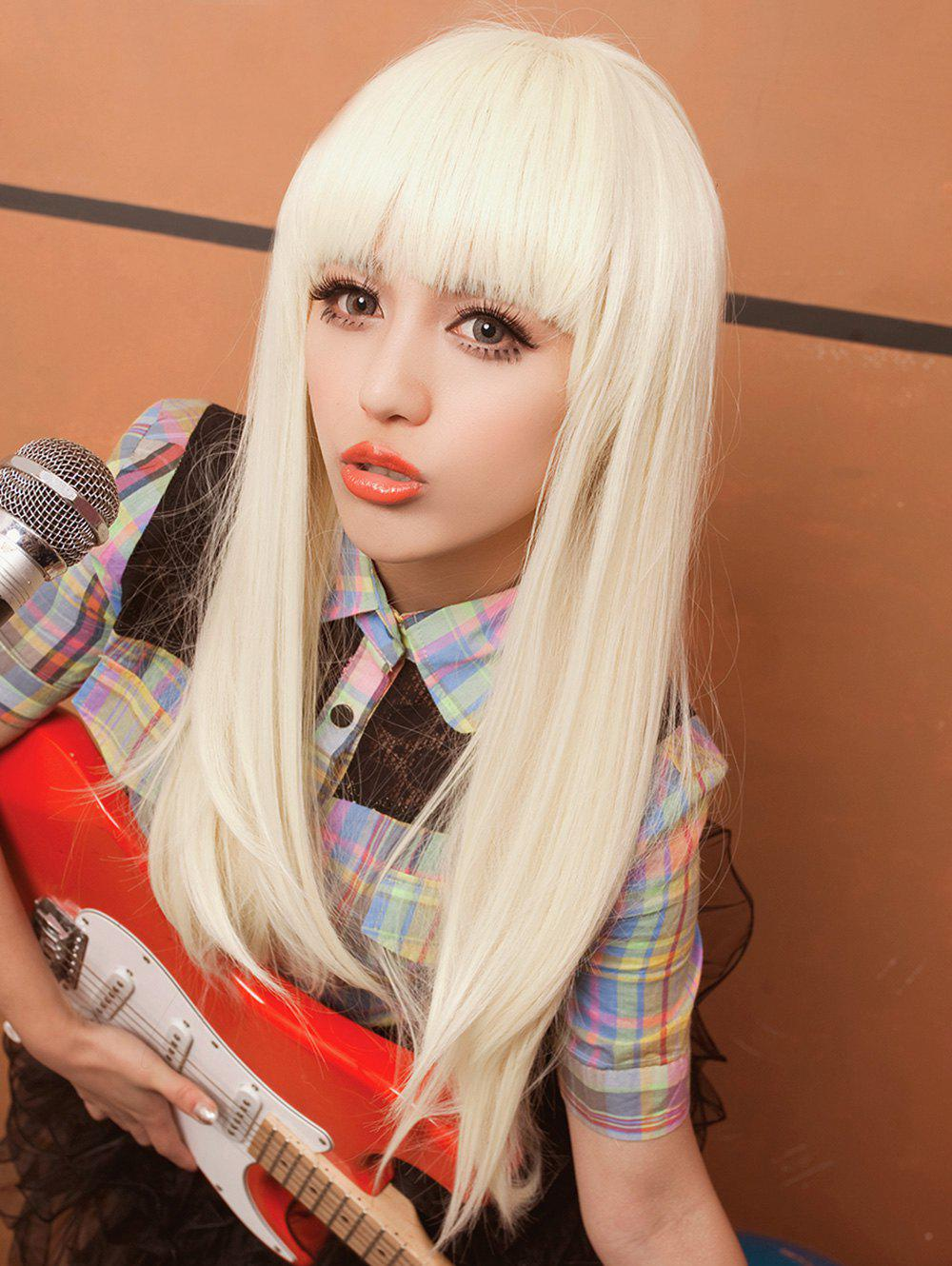Fancy Long Full Bang Straight Synthetic Cosplay Wig