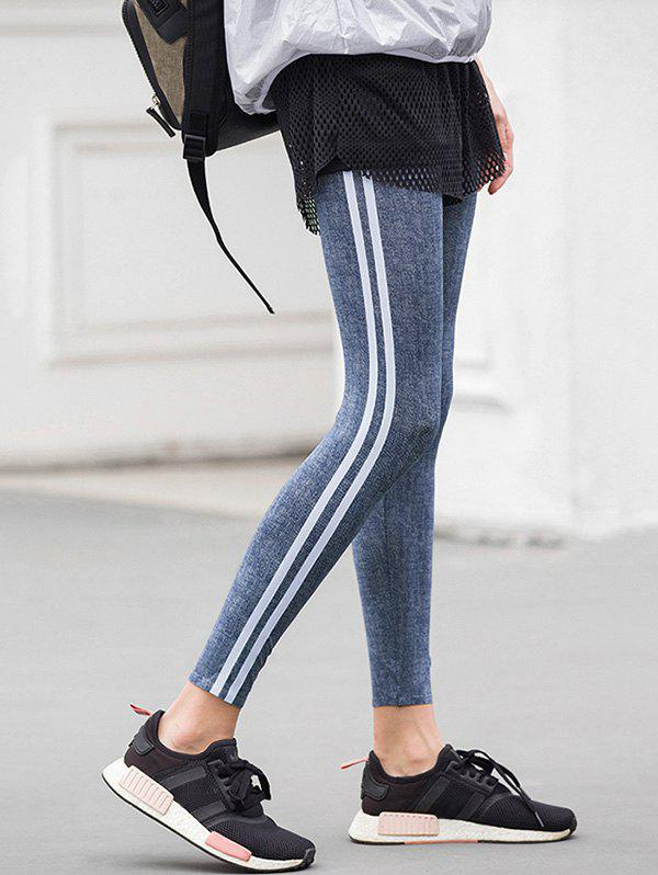 Outfit Striped Insert Skinny Pants