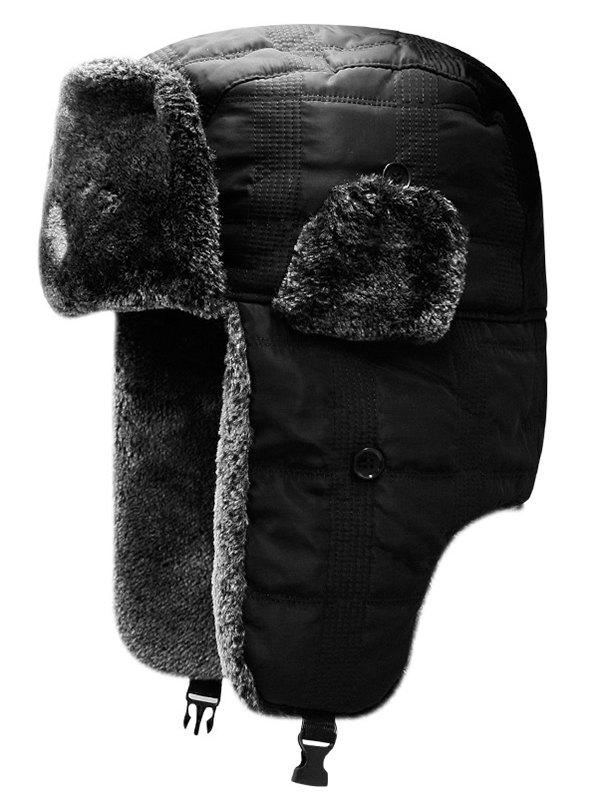 Online Winter Solid Color Windproof Trapper Hat