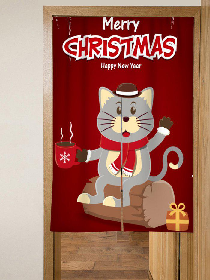 Outfits Christmas Cat Design Door Curtains