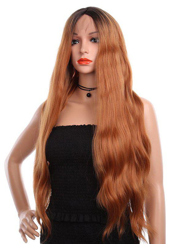 Outfits Center Parting Long Colormix Wavy Party Synthetic Lace Front Wig
