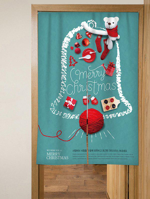 New Merry Christmas Bear Design Door Curtain