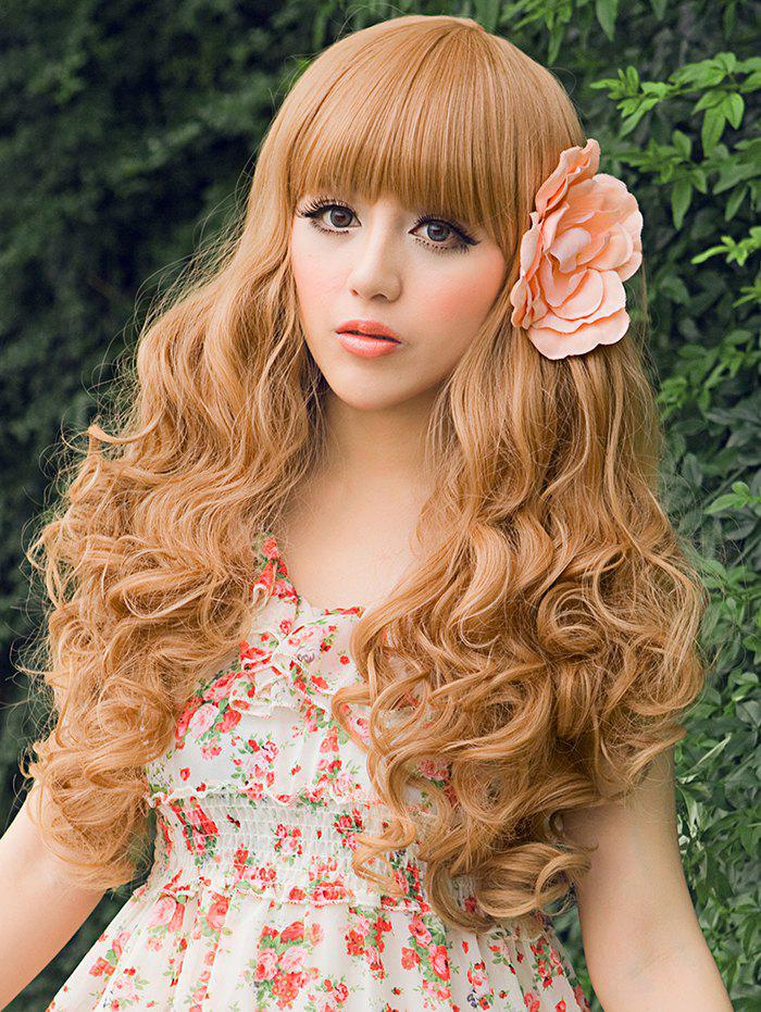 Store Full Bang Long Curly Party Cosplay Synthetic Wig