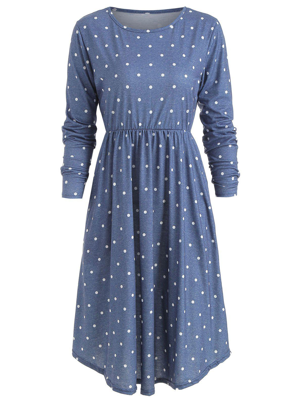 Sale Polka Dot High Waist Dress