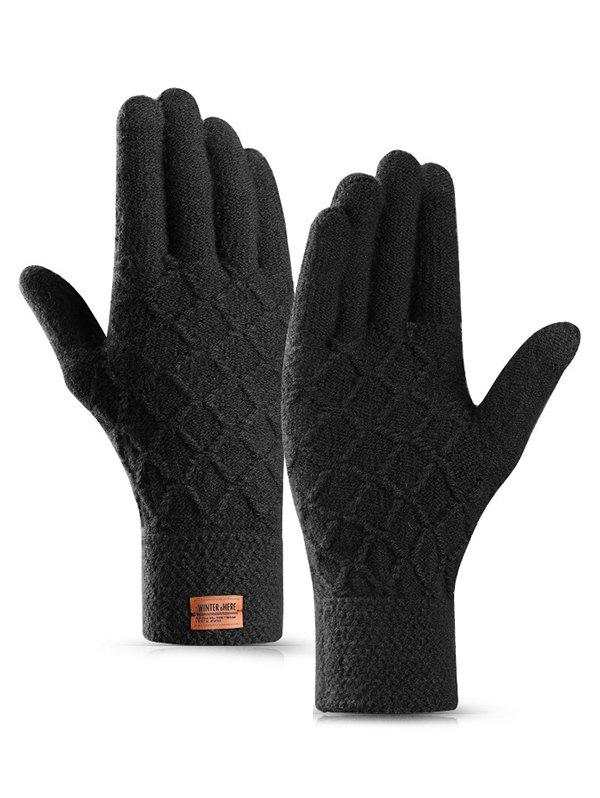 Trendy Winter Braid Full Finger Gloves