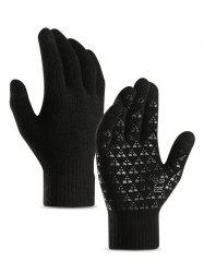 Fuzzy Winter Knitted Touchscreen Gloves -