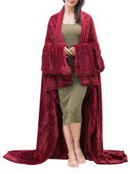 Fluffy Wearable Blanket with Sleeves -