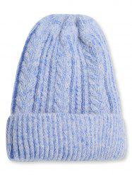 Winter Fuzzy Flanging Knitted Beanie -