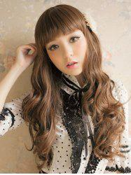 Long Full Bang Wavy Party Capless Synthetic Wig -