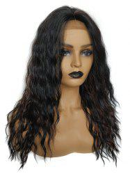 Medium Center Parting Colormix Wavy Party Synthetic Lace Front Wig -
