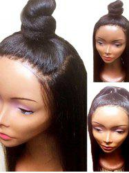 Long Free Part Yaki Straight Synthetic Lace Front Wig -