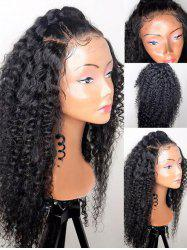Free Part Long Afro Curly Synthetic Lace Front Wig -