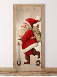 Cute Father Christmas Pattern Door Art Stickers -