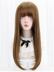 Long Full Bang Straight Lolita Synthetic Wig -