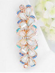 Colored Rhinestone Inlaid Butterfly Barrette -
