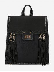 PU Leather Fringe School Backpack -