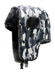 Outdoor Camouflage Print Windproof Trapper Hat -