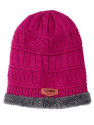 Winter Knitted Thick Ski Cap and Infinity Scarf -
