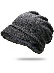Solid Color Billed Slouchy Beanie -