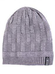 Letter Label Knitted Winter Beanie -
