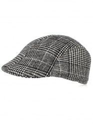 Casual Plaid Duckbill Hat -