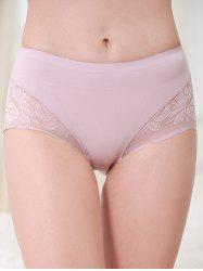 Mid Rise Lace Insert Underwear -