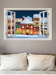 3D Window Christmas Theme Removable Wall Sticker -
