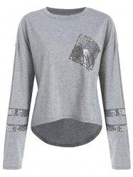 Sequins High Low Sweatshirt -